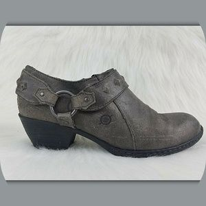 BORN Western Style Suede Leather Booties